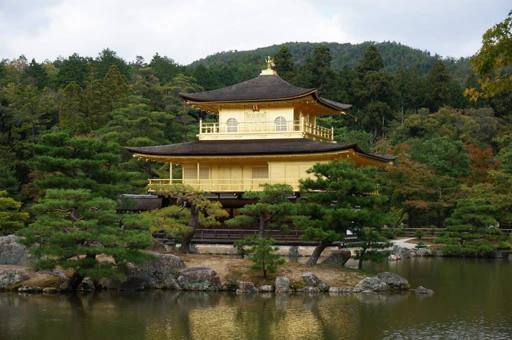Japanese temple kinkakuji in Kyoto