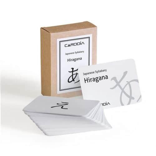 hiragana flash cards japanese gift idea