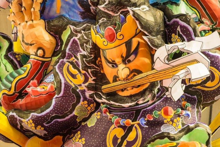 crazy japanese festival - spirit or demon lantern