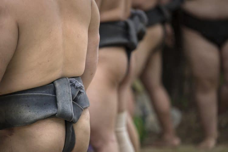japanese festivals - sumo in fundoshi loincloth
