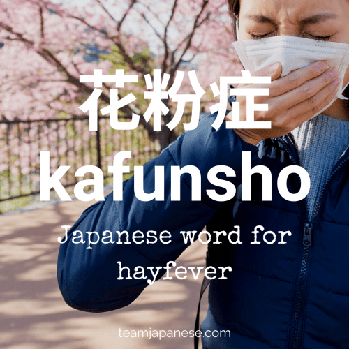 kanfunsho - hayfever. More essential Japanese words for spring at teamjapanese.com!
